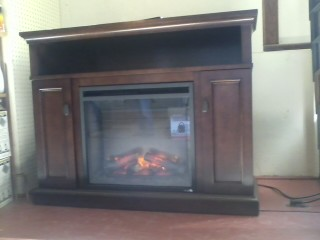 Electric Fireplace with cabinet