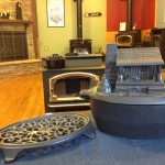 Cabin steamer with trivet in our showroom