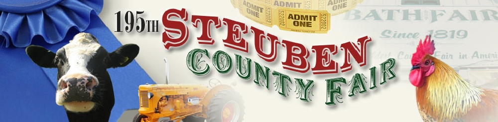 We'll be at the Steuben County Fair August 12 – 16 under the grandstand