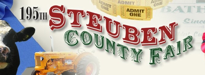 We'll be at the Steuben County Fair August 18-22, 2015 under the grandstand